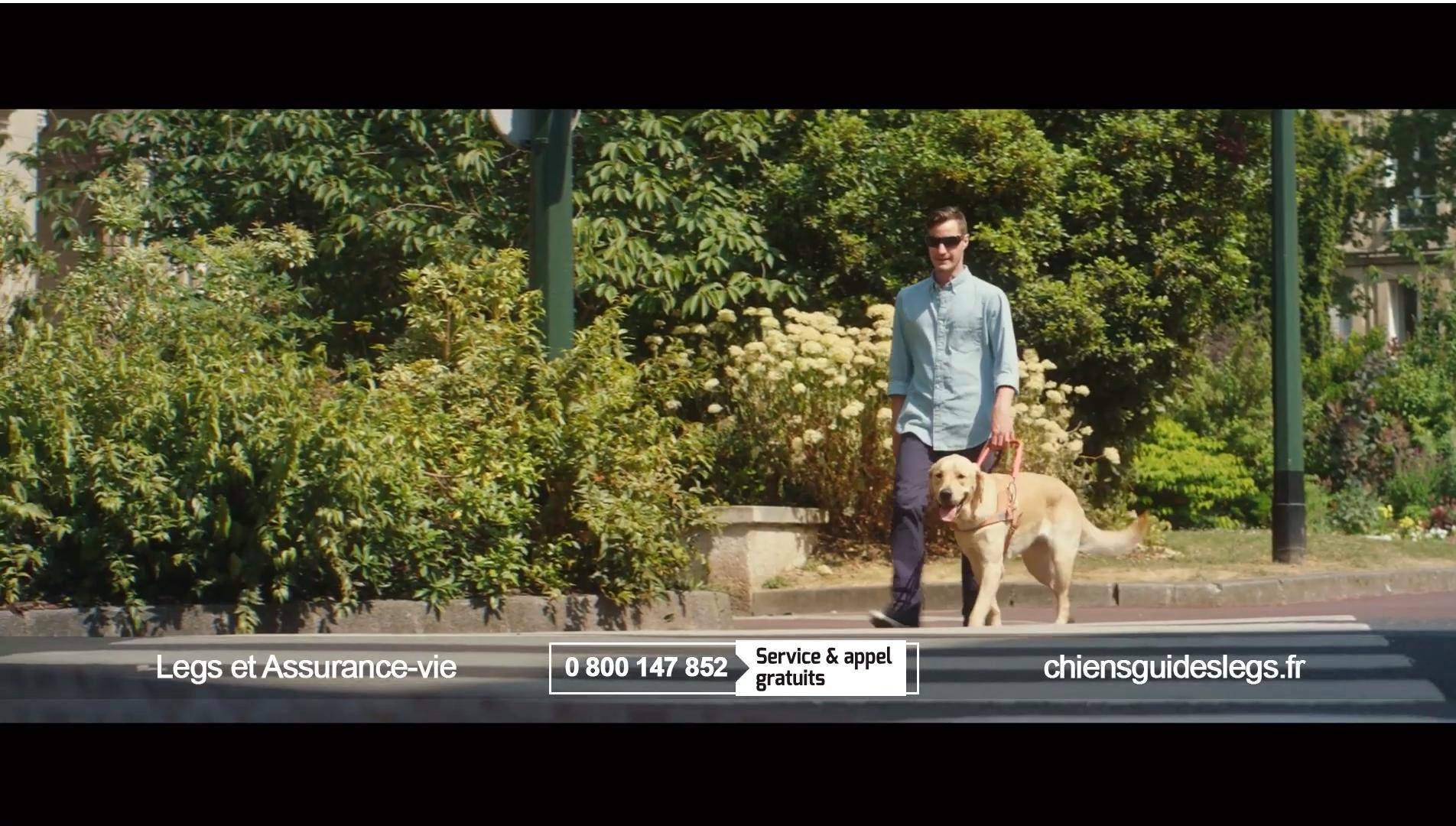 Capture d'écran du spot TV sur les legs