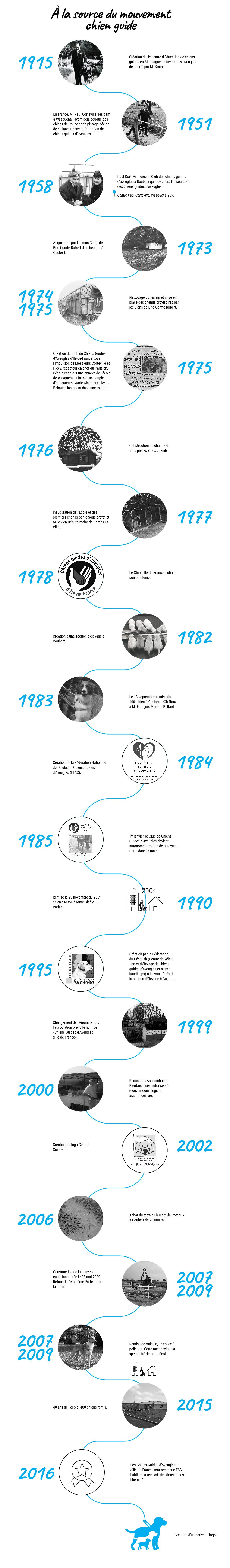 Infographie: À la source du mouvement chien guide