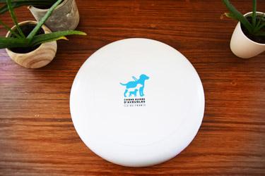 frisbee blanc avec logo