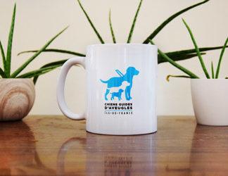mug au chiens guides d'aveugles d'île-de-France