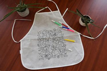 tablier à colorier pour enfant